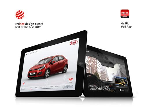 Kia Rio Mobile App Red Dot Award