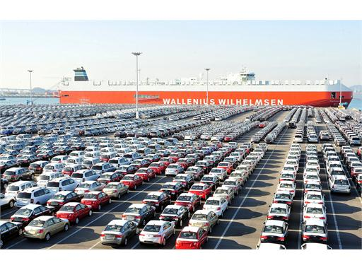 Kia Cars Awaiting Shipment at Pyeongtaek Port