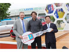 Steve Wood, CEO, Tennis Australia with Kia's global brand ambassador, Rafael Nadal
