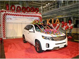 Kia Motors Manufacturing Georgia reaches one million U.S.-built vehicles milestone