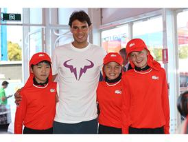 Rafael Nadal and Australian Open Ball Kids