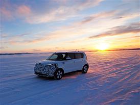 Kia Soul EV Winter Testing 2