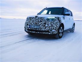 Kia Soul EV Winter Testing 3