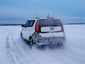 Kia Soul EV Winter Testing 5