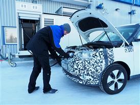 Kia Soul EV Winter Testing 6
