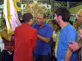Carlos Alberto at Samba School (Rio de Janeiro)