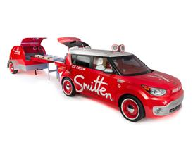 Kia at 2014 SEMA - Smitten Ice Cream Soul EV