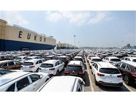 Kia cars awaiting shipment at Pyeongtaek Port 2