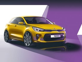 4th Generation Kia Rio - Exterior Front Quarter Rendering