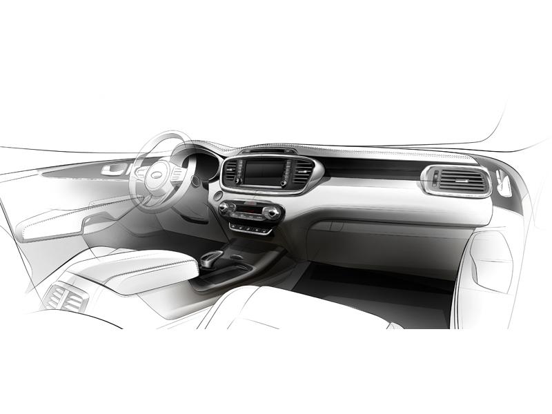 Third Generation Kia Sorento Interior Rendering