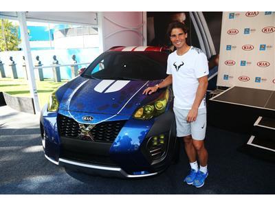 Rafael Nadal unveils Kia's newest X-Car at Australian Open 2016