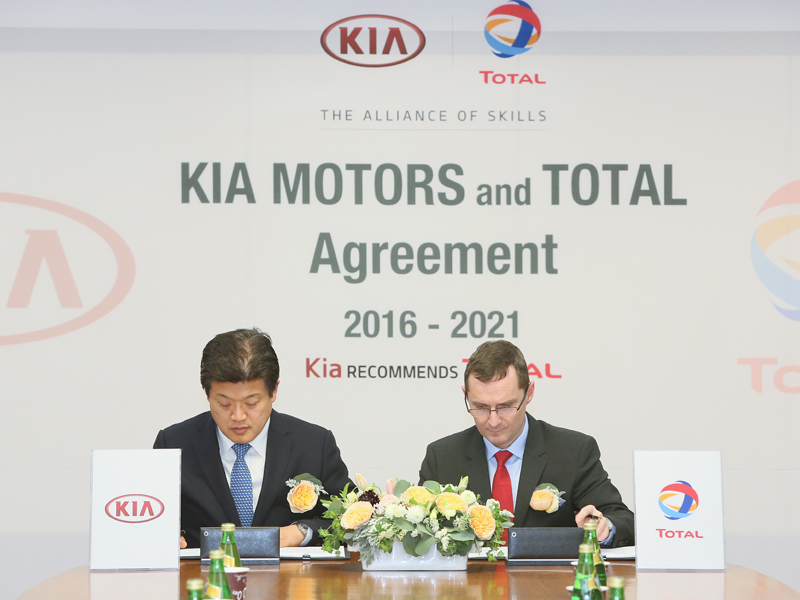Kia Motors and Total Partnership Extension