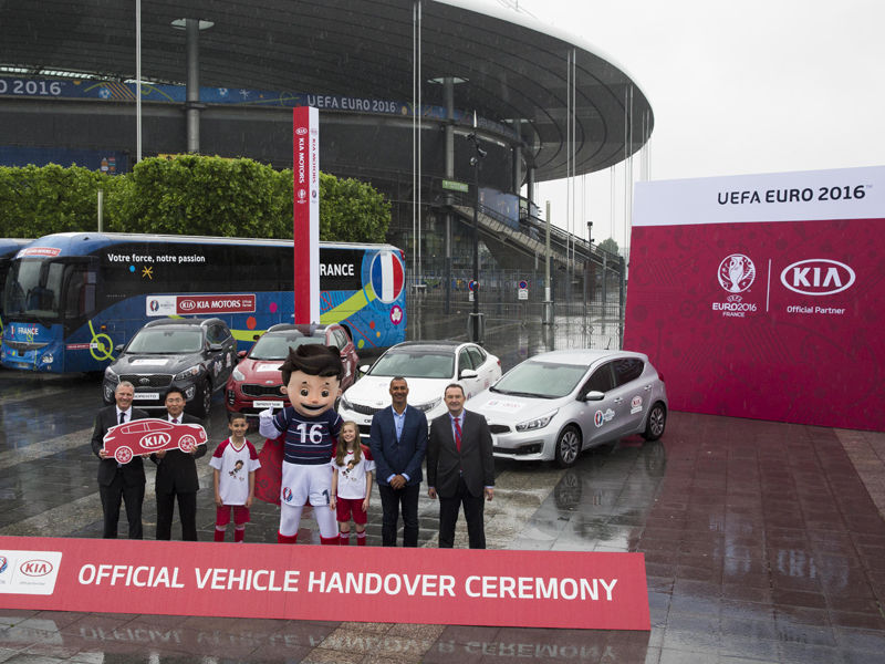 Kia UEFA EURO 2016 Vehicle Handover Ceremony