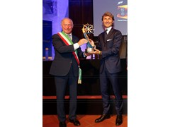 "Stephan Winkelmann, President and CEO of Automobili Lamborghini, receives the ""Premio Internazionale BARSANTI e MATTEUCCI"""