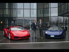 Il Presidente del Bologna Joseph Tacopina in visita ad Automobili Lamborghini
