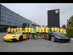 Lamborghini participates with X-Bionic at the 24 hours marathon by Audi