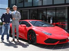 MotoGP Champion Casey Stoner visits Automobili Lamborghini