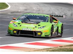 The GRT Grasser Racing Lamborghini Huracán GT3 wins at its debut in the ADAC GT Masters