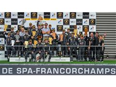 Alberto Di Folco scores his first win in SPA-Francorchamps Lamborghini Blancpain Super Trofeo Race One