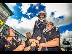 In the Sebring World Final of the Lamborghini Blancpain Super Trofeo World Final, Patrick Kujala (PRO), Corey Lewis (PRO-AM), Ryan Ockey (AM), Jake Rattenbury and Brandon Gdovic (Gallardo PRO-AM and AM) are crowned champions