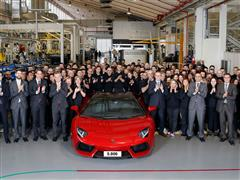 Production Record for Automobili Lamborghini: 5.000 Aventadors Produced in 55 Months