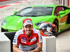 Andrea Dovizioso will race in Valencia behind the wheel of a Lamborghini Huracán Super Trofeo