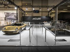 Lamborghini PoloStorico at 2017 Techno Classica, Essen: announcing Lamborghini and Design, Concorso d'Eleganza