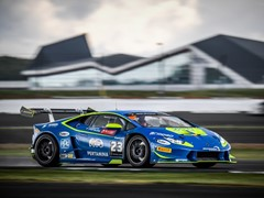 Postiglione and Cecotto win Race 1  of the Lamborghini Super Trofeo Europe at Silverstone