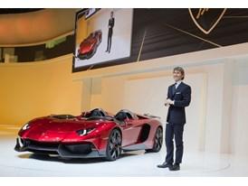 Stephan Winkelmann, President and CEO of Lamborghini and New Lamborghini Aventador J