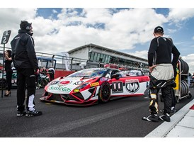 LBSTF Silverstone car #11 on the grid with Andrea Mamé and Mirko Zanardini