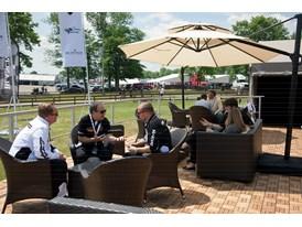 Lamborghini's hospitality provides a premium off-track experience for competitors