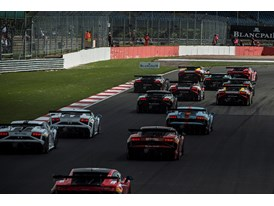 Race action at Silverstone from Lamborghini Blancpain Super Trofeo's European sister series