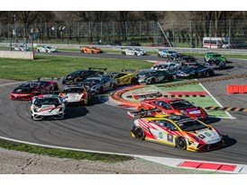 Race action at Monza from Lamborghini Blancpain Super Trofeo's European sister series