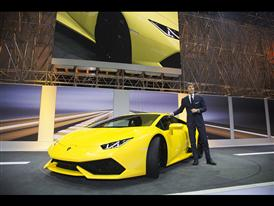 Stephan Winkelmann and New Lamborghini Huracán LP 610-4