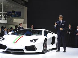 Stephan Winkelmann at the Auto China 2014 in Beijing