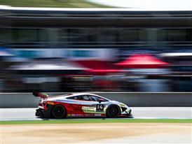 Winner Andrew Palmer at speed