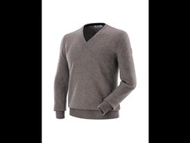 Classic - Vee neck Cashmere Sweater Light Taupe