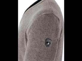 Classic - Vee neck Cashmere Sweater Light Taupe - Detail