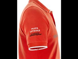 Squadra Corse -Short Sleeve Squadra Corse GT3 polo Orange Argos - Detail 2