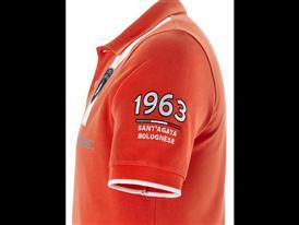 Squadra Corse -Short Sleeve Squadra Corse GT3 polo Orange Argos - Detail