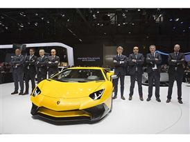 Lamborghini Press Conference at the 2015 Geneva Motor Show