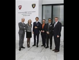 Inauguration DESI, from left - C. Domenicali, Ministro S. Giannini, S. Winkelmann, P. Mosch, L. de Meo, T. Sigi