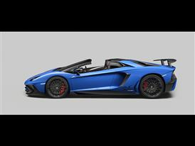 Lamborghini Aventador SV Roadster Side Open
