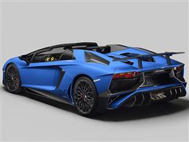 Lamborghini Aventador SV Roadster 3/4 Rear Open