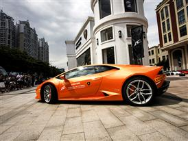 Lamborghini China Giro Fleet Started from Guangzhou and headed for Foshan