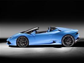 New Lamborghini Huracán LP 610-4 Spyder Side Open