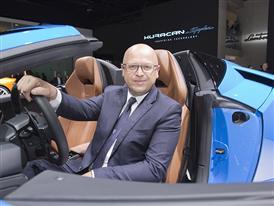 Filippo Perini, Head of Design, and The New Lamborghini Huracán LP 610-4 Spyder
