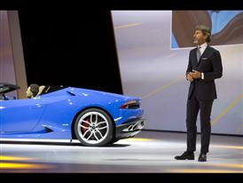 Stephan Winkelmann, President and CEO of Automobili Lamborghini and New Lamborghini Huracán LP 610-4 Spyder 4