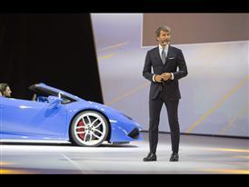 Stephan Winkelmann, President and CEO of Automobili Lamborghini and New Lamborghini Huracán LP 610-4 Spyder 5