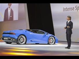 Stephan Winkelmann, President and CEO of Automobili Lamborghini and New Lamborghini Huracán LP 610-4 Spyder 6